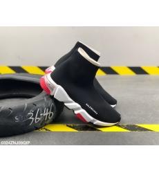 Balencia socks elastic woven surface Men Women Shoes Black Red