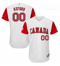 Mens Canada Baseball Majestic 00 John Axford White 2017 World Baseball Classic Authentic Team Jersey