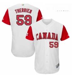 Mens Canada Baseball Majestic 59 Jessen Therrien White 2017 World Baseball Classic Authentic Team Jersey