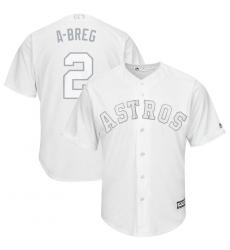Astros 2 Alex Bregman ABreg White 2019 Players Weekend Player Jersey