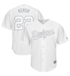 Dodgers 22 Clayton Kershaw Kersh White 2019 Players Weekend Player Jersey