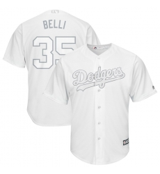 Dodgers 35 Cody Bellinger Belli White 2019 Players Weekend Player Jersey