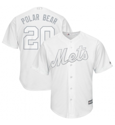 Mets 20 Pete Alonso Polar Bear White 2019 Players Weekend Player Jersey
