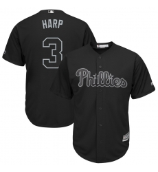 Phillies 3 Bryce Harper Harp Black 2019 Players Weekend Player Jersey