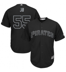 Pirates 55 Josh Bell JB Black 2019 Players Weekend Player Jersey
