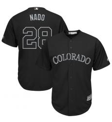Rockies 28 Nolan Arenado Nado Black 2019 Players Weekend Player Jersey