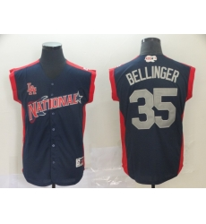 National League 35 Cody Bellinger Navy 2019 MLB all star Game Workout Player Jersey