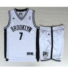 Brooklyn Nets 7 Joe Johnson White Revolution 30 Swingman Jerseys Shorts NBA Suits