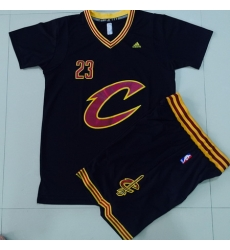 Cavaliers #23 LeBron James Black 2016  final suits nba jerseys