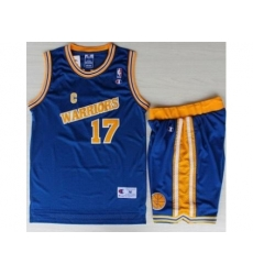 Golden State Warriors 17 Chris Mullin Blue Hardwood Classics NBA Jerseys Shorts Suits