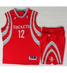 Houston Rockets 12 Dwight Howard Red Revolution 30 Swingman NBA Jerseys Shorts Suits