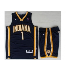 Indiana Pacers 1 Lance Stephenson Blue Revolution 30 Swingman NBA Jersey Short Suit
