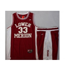 Lower Merion 33 Kobe Bryant Red Basketball Jerseys Shorts Suits