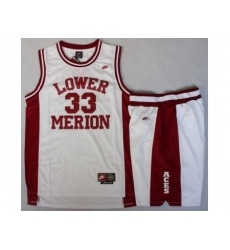 Lower Merion 33 Kobe Bryant White Basketball Jerseys Shorts Suits