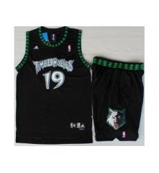 Minnesota Timberwolves 19 Sam Cassell Black Swingman NBA Jerseys Short Suits