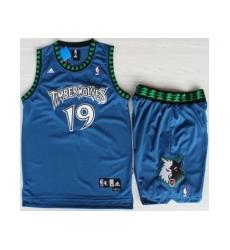 Minnesota Timberwolves 19 Sam Cassell Blue Swingman NBA Jerseys Short Suits