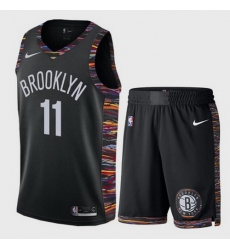 Nets 11 Kyrie Irving White City Edition Nike Swingman Jersey 28With Shorts