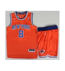 New York Knicks 8 JR Smith Orange Revolution 30 Swingman NBA Jerseys Shorts Suits