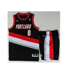 Portland Trail Blazers 0 Damian Lillard Black Revolution 30 Swingman NBA Jersey Short Suits
