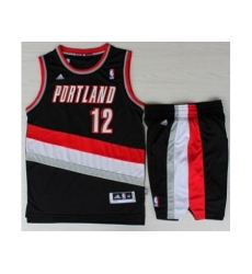Portland Trail Blazers 12 LaMarcus Aldridge Black Revolution 30 Swingman NBA Jersey Short Suits