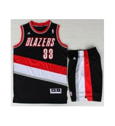 Portland Trail Blazers 33 Scottie Pippen Black Revolution 30 Swingman NBA Jersey Short Suits