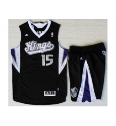 Sacramento Kings 15 DeMarcus Cousins Black Revolution 30 Swingman Suits