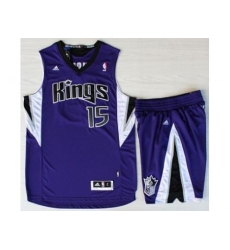 Sacramento Kings 15 DeMarcus Cousins Purple Revolution 30 Swingman Suits