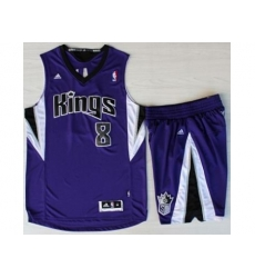 Sacramento Kings 8 Rudy Gay Purple Revolution 30 Swingman Suits
