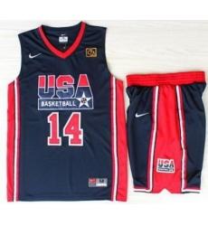 USA Basketball 1992 Olympic Dream Team Blue Jerseys & Shorts Suits 14# Charles Barkley