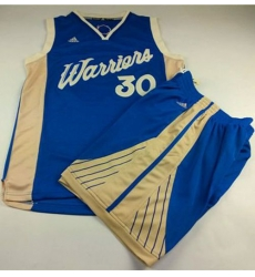 Warriors #30 Stephen Curry Blue 2015 2016 Christmas Day A Set Stitched NBA Jersey