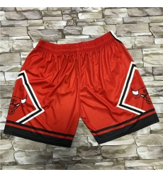 Bulls Red Black Big Face With Pocket Swingman Shorts
