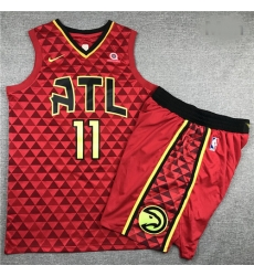 Hawks 11 Trae Young Red Nike Swingman Jersey 28With Shorts 29