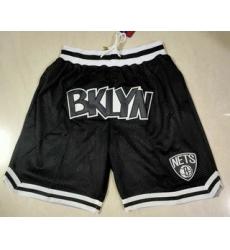 Men Brooklyn Nets Black Just Don Swingman Throwback Shorts