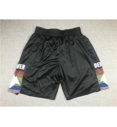 Men Denver Nuggets Teams Black City Edition Swingman Shorts