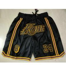 Men Los Angeles Lakers 8 24 Kobe Bryant Black Just Don Swingman Throwback Shorts
