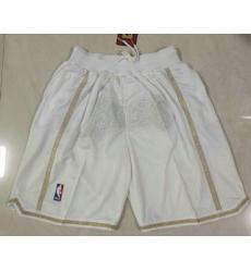 Men Los Angeles Lakers White MVP Just Don Swingman Throwback Shorts