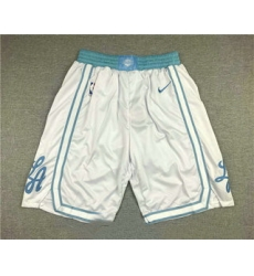 Men Los Angeles Lakers White NEW 2021 Nike City Edition Stitched Shorts