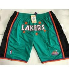 Men Men Los Angeles Lakers Green Just Don Swingman Throwback Shorts