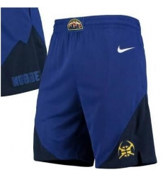Men NBA Denver Nuggets Nike Blue Shorts