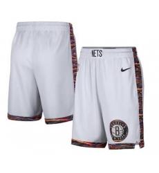 Men Nike Brooklyn Nets White Shorts