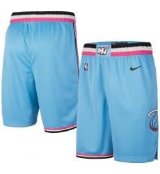 Men's Miami Heat Nike Blue 2019 20 City Edition Swingman Shorts