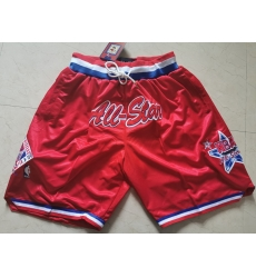 NBA All Star Swingman Pocket Red Shorts