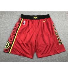 NBA Atlanta Hawks Swingman Red Shorts