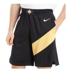 NBA Raptors black gold shorts 2