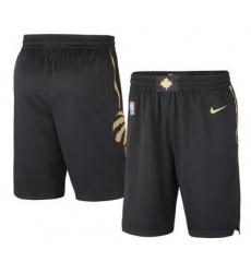 NBA Raptors black gold shorts