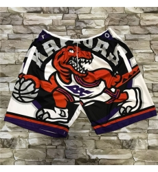 Raptors White Big Face With Pocket Swingman Shorts