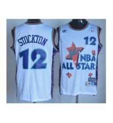 NBA 95 All Star #12 Stockton white