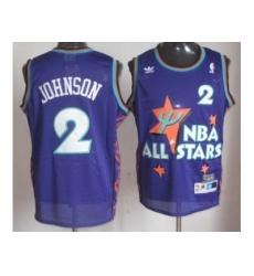 NBA 95 All Star #2 Johnson Purple Jerseys