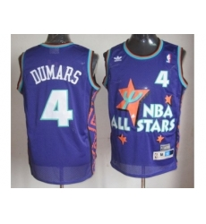 NBA 95 All Star #4 Dumars Purple Jerseys