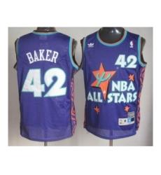 NBA 95 All Star #42 Baker Purple Jerseys